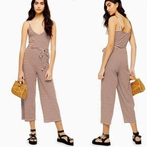 Topshop Strappy Stripe Jumpsuit 12 NWT
